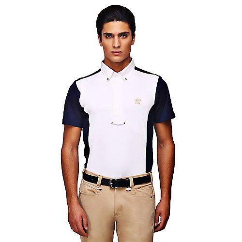 GHM Mens Champion Short Sleeve Show Shirt S Navy (Shirt Equestrian Short Show Sleeve)