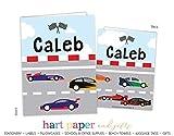 Race Car 2 Pocket Folder Gift Name Back to School Supplies Teacher Office Birthday Girl Kids Custom Personalized Custom