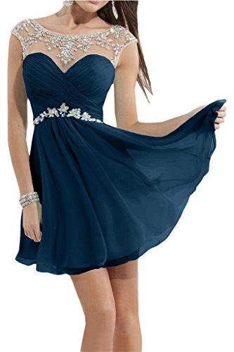 Damen Steine mia Blau Cocktailkeider Navy Partykleider La Chiffon Tanzenkleider Navy Mini Braut Heimkehr Blau wSdEqnHCxY