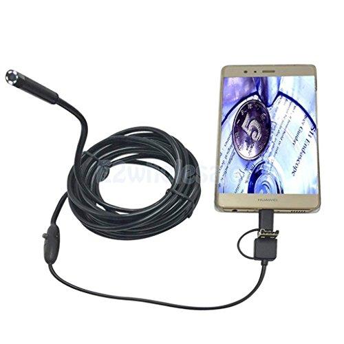 Borescope USB Waterproof 7mm Inspection Camera 1m Snake Scope by e2wholesale