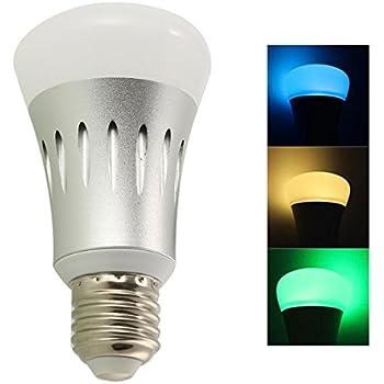 ledmomo smart wifi bulb e27 dimmable 7w rgb led bulb compatible with alexa echo remote control. Black Bedroom Furniture Sets. Home Design Ideas