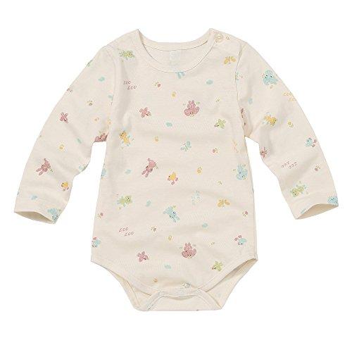 WithOrganic Organic Newborn Infant Baby Romper Short-Sleeve Bodysuit One Peace (12M, Crayon Animal)