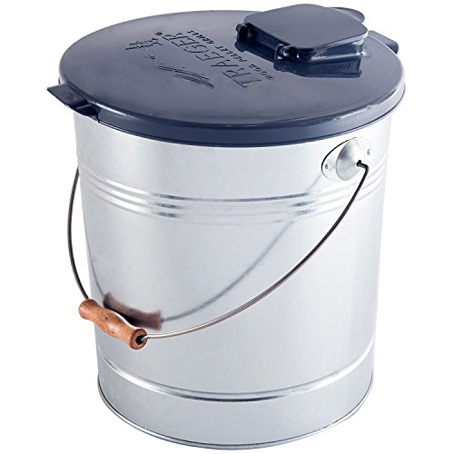 Pellet Bucket - RCK Sales Smoker Pellet Storage Bucket and Lid with Filter for 20 LBS by Traeger Grills BAC370 BAC430