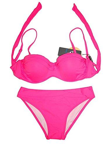 Traje de baño Bikini Suave Clásico Alto Estiramiento Sujetador Suelto Tight Top y Prendas de Vestir