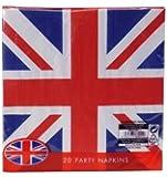 Union Jack (British Flag) Disposable 2ply Paper Napkins-pack 20