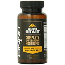 Onnit Alpha Brain Advanced Brain Booster Nootropic Capsules, 30 Capsules, Pack of 2