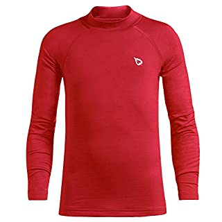 BALEAF Youth Boys' & Girls' Compression Thermal Shirt Fleece Baselayer Long Sleeve Mock Top Red Size XS (B07X2DDD7W)   Amazon price tracker / tracking, Amazon price history charts, Amazon price watches, Amazon price drop alerts