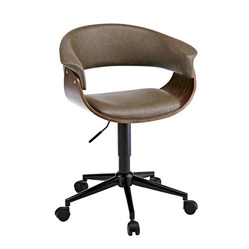 ビンテージ風 ワークチェア/リビングチェア 【ブラウン】 座面回転昇降式 キャスター 背もたれ付き 張地:合成皮革/合皮【代引不可】 生活用品 インテリア 雑貨 インテリア 家具 椅子 その他の椅子 top1-ds-1986731-ah [簡素パッケージ品] B077S4RNPC