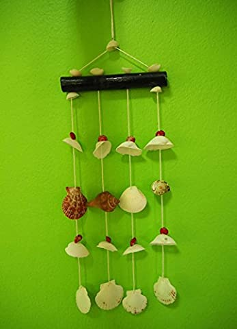 Seashell Mobile for Home Decoration with 4 Wires - Ceramic Tortoise Vases