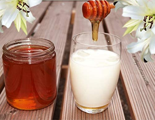 Lilygardencandles - Vela aromática de leche y miel en la leche de Bottle/cera de soja con un tiempo de combustión de más de 56 horas/un aroma especialmente dulce: Amazon.es: Iluminación