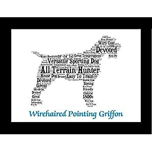 Wirehaired Pointing Griffon Dog Wall Art Print - Personalized Pet Name - Gift for Her or Him - 11x14 matted - Ships 1 Day 4