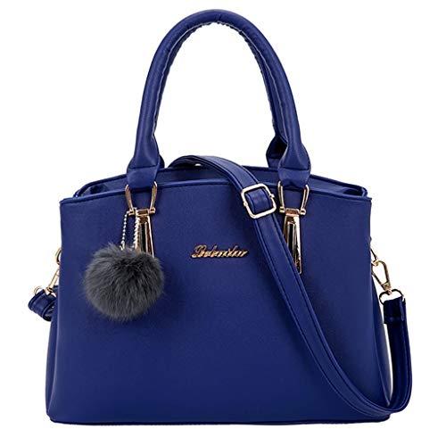 Fourre Femmes Bleu Solide mode Femme sacs Sac A Guess Soldes Couleur Dodumi Sacs Hairball Bandoulière Femme Main tout Vintage À wqFTxPH7