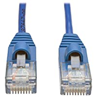 Tripp Lite Cat5e Snagless Molded Slim UTP Patch Cable (M/M), RJ45,  Blue, 5 ft. (N001-S05-BL)