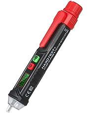 yongke HT100P Lápis de teste sem contato LCD Digital Voltage Tester Detector de tensão e fase AC com alarme de som e luz Eletroscópio portátil tipo caneta NCV com LED de ajuste de sensibilidade
