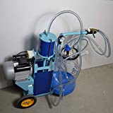 2L Electric Milking Machine Portable Cow Sheep Goat Milking Machine Set Manual Pump One Quart One Teat Milker with Pulse Controller US Plug