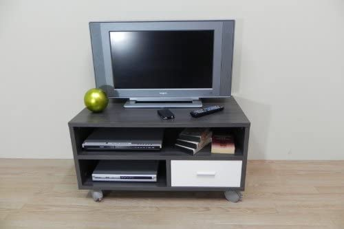 Azor - Mesa tv 90 con ruedas cajon, medidas 90 x 50 x 40 cm, color ...