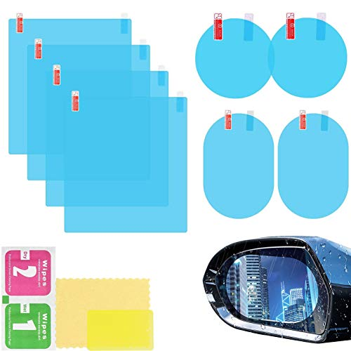 Pelicula Impermeable Retrovisor Coche,Pelicula impermeable para espejo retrovisor de coche,Pelicula Impermeable Antideslumbrante y Antiniebla,Pelicula antivaho (azul)
