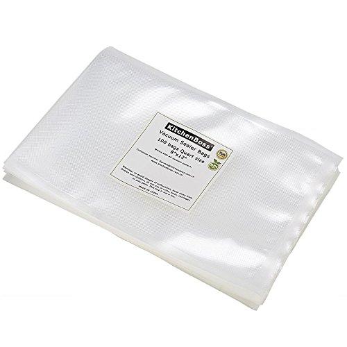 (Vacuum Sealer Bags 100 Quart Size 8
