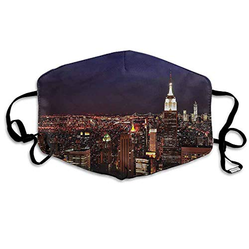 New York Dust Mouth Mask New York Manhattan Nght for Men and Women W4