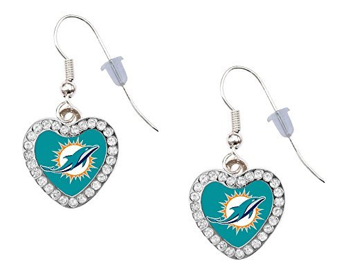 Miami Dolphins Dangle Crystal Earrings product image