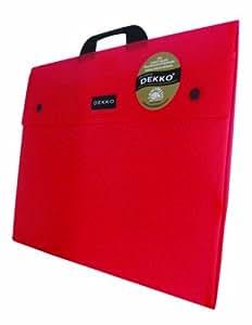 Dekko - Portafolios A3 con entretela, color rojo