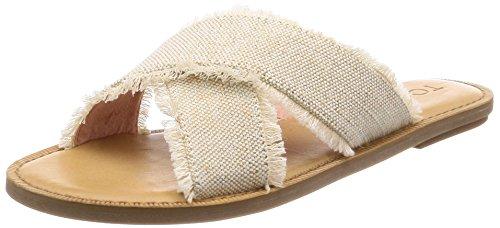 TOMS Women's Viv Sandal Natural Metallic Jute 6 M US]()