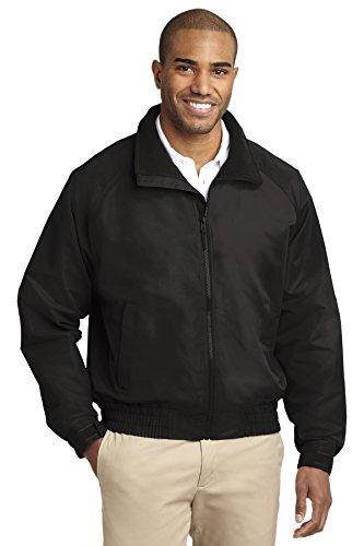 (Port Authority Men's Tall Lightweight Charger Jacket 4XLT True Black)