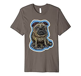 Mens Pug Small Dog Tshirts - Pug Lover's Funny T-Shirt 2XL Asphalt