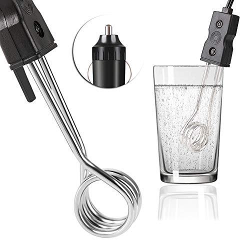 RUNGAO - Calentador de Inmersion de Coche Portatil (12 V, para Te, cafe, Agua y Calefaccion Electrica)