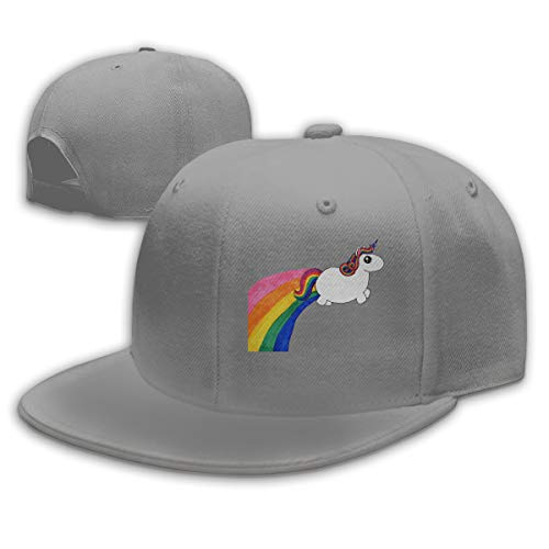 TYMOFII80 Baseball Cap Chubby Unicorn Unisex Adjustable Flat Vintage Sports Hat Snapback Hip-Hop Cap