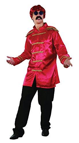 Bristol Novelty AC413A SGT Pepper Budget Jacket, Red, -
