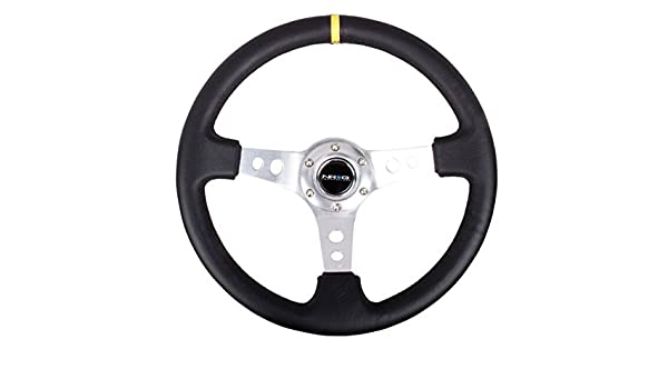 NRG Innovations RST-006SL-Y Reinforced Wheel-350mm Sport Steering Wheel 3 Deep