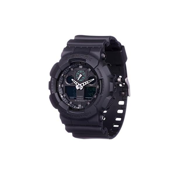 Casio Reloj Analogico-Digital para Hombre de Cuarzo con Correa en Resina GA-100MB-1AER 5