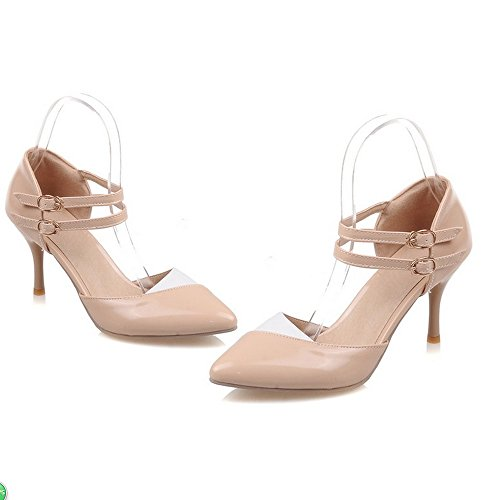 Stiletto Dress LongFengMa Sandals High apricot Sexy Shoes Women Heel Office 4ffEqw