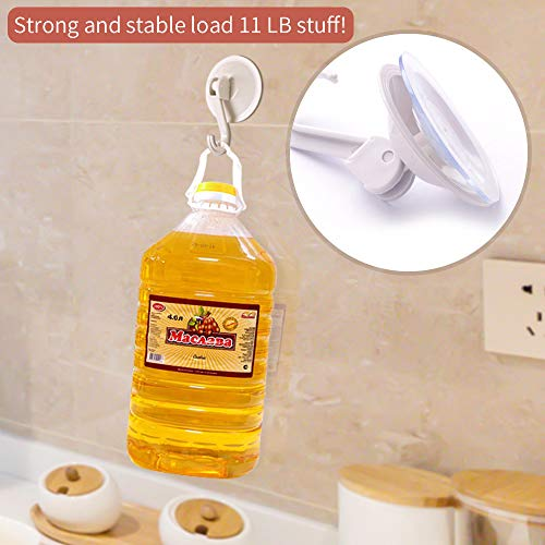 SUNDOKI Suction Cup Hooks, Kitchen Towel Hooks Removable Wall Vacuum Holder for Bathroom Tile, Glass and Mirror(8 Pack) by SUNDOKI (Image #7)