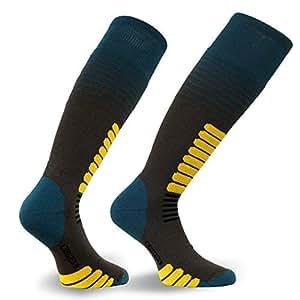 Eurosocks Zone Ski Socks, Small, Anthracite/Teal