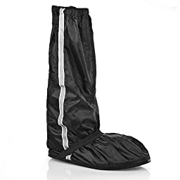 US Size 8.5-9.5 Anti Slip Gaiter Black Waterproof Safety Gear Rain Boot Shoe Cover