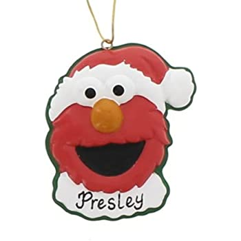 Amazon.com: Sesame Street Heirloom Elmo Christmas Ornament: Home ...
