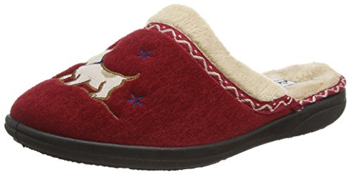 Padders Scotty 479 - Ee Fit Red Slippers Rojos