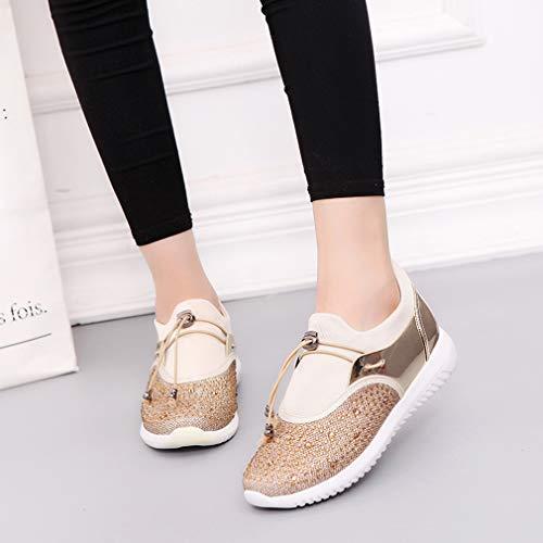 Pareja Zapatillas De Deportivos Zapatos Tamaño Casual Moda Metallic Gran rxqwUrv
