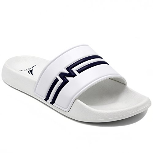 Nautica Heren Kingston Atletisch Glijbaan Comfort Sandaal Wit