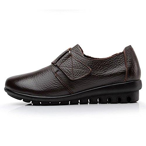 con Planos SHELAIDON Mujer Zapatos marrón Cordones 4Bwx5q1wE