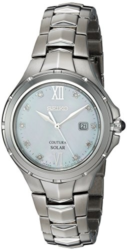 Seiko Women's Japanese-Quartz Watch with Stainless-Steel Strap, Silver, 15.4 (Model: SUT307)