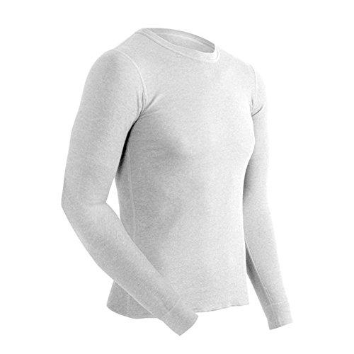 ColdPruf Men's Basic Dual Layer Long Sleeve Crew Neck Base Layer Top, Winter White, Medium