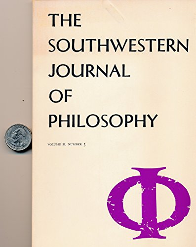 Southwestern Journal Of Philosophy   Articles  Protagoras   Relativism  What Is Phenomenolgy   Thomas Aquinas Philosophy Of Beauty  Ryle On Volitions