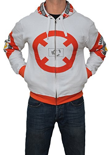 [Miracle(Tm) Men's BB-8 Hoodie Star Wars - Star Wars Costume Hoodie (X-Large)] (Star Wars Mens Zip Up Costume Hoodie)