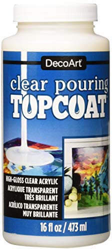 DecoArt Clear Pouring TopCoat DS134 16 fl oz/ 473 ml from Deco Art (DECCA)