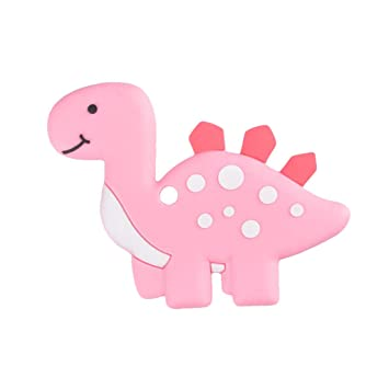 Amazon Com Dirance Baby Boy And Girl Cartoon Dinosaur Toy Colorful Silicone Toy Can Be Caught In The Hand Size 8x10 Cm Pink Beauty