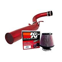 K&N Air Filter + Spyder Cold Air Intake (Red) - 11- 16 Dodge Charger 3.6L V6 SPYDER-782-R/RE-0950