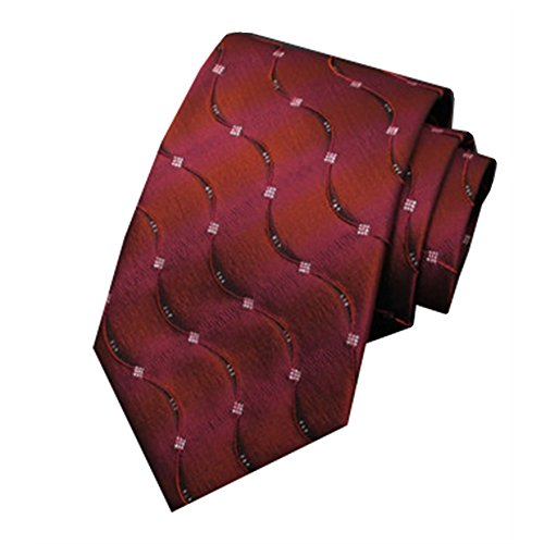 Tie Pattern Silk Ripple Men's Arrow Dark MIAOWANG Type Red Tie Business txw0Cqq1p